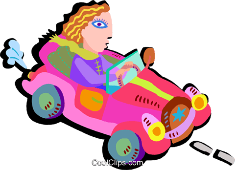 driving car Royalty Free Vector Clip Art illustration tran1011