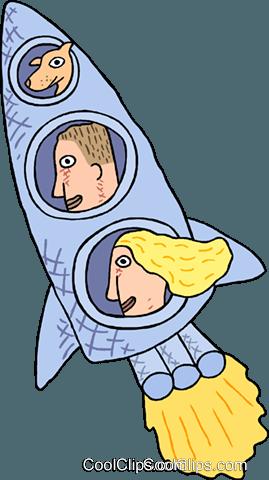 商业火箭船 免版税矢量剪贴画插图图片