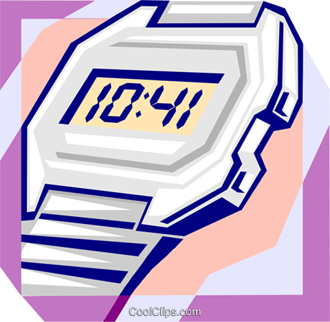 time Royalty Free Vector Clip Art illustration busi1856