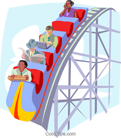 business / roller coaster Royalty Free Vector Clip Art illustration busi1876