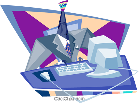 business / technology Royalty Free Vector Clip Art illustration busi1887