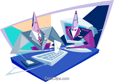 business / technology Royalty Free Vector Clip Art illustration busi1889