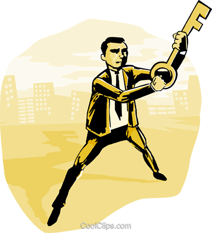 key to success Royalty Free Vector Clip Art illustration busi1983