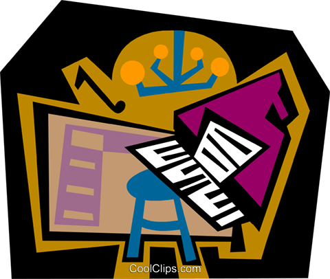 The Arts/music Royalty Free Vector Clip Art illustration ente0188