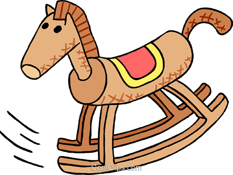 rocking horse Royalty Free Vector Clip Art illustration hous1448