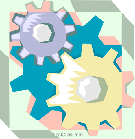 gears Royalty Free Vector Clip Art illustration indu1021