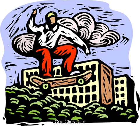 skateboarder Royalty Free Vector Clip Art illustration spor0499