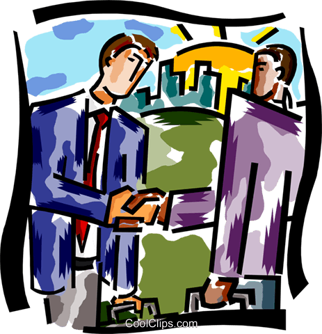 businessmen shaking hands Royalty Free Vector Clip Art illustration busi2134