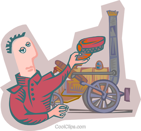 train engineer Royalty Free Vector Clip Art illustration peop4116