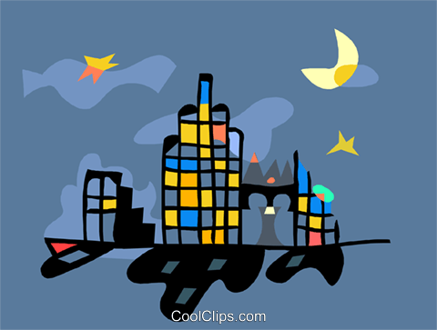 cityscape Royalty Free Vector Clip Art illustration arch0579
