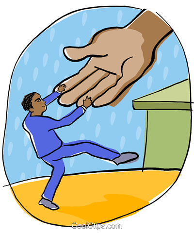 helping hand Royalty Free Vector Clip Art illustration busi2168