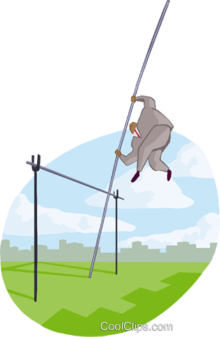 pole-vaulting Royalty Free Vector Clip Art illustration busi2171