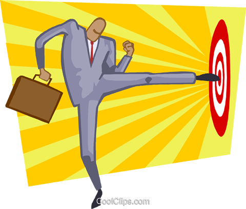 hitting the target Royalty Free Vector Clip Art illustration busi2174