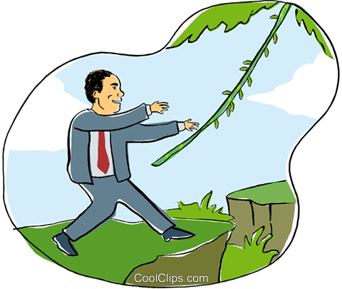 business man in jungle Royalty Free Vector Clip Art illustration busi2180