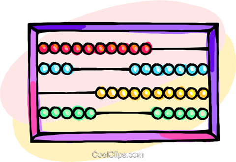 abacus Royalty Free Vector Clip Art illustration busi2195