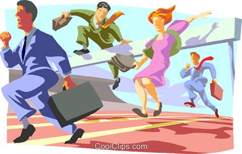 Rat race Royalty Free Vector Clip Art illustration busi2202