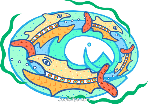 big fish eating the little fish Royalty Free Vector Clip Art illustration divi0163