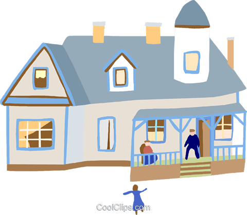 house Royalty Free Vector Clip Art illustration arch0580