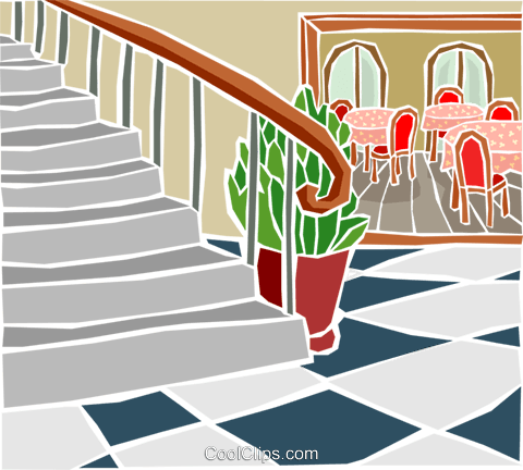 circular staircase Royalty Free Vector Clip Art illustration arch0586
