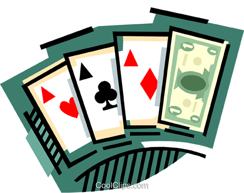Cards with money wild card Royalty Free Vector Clip Art illustration busi2266
