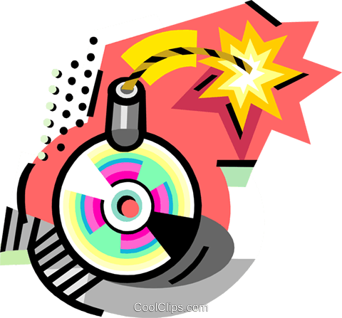 Compact Disk bomb Royalty Free Vector Clip Art illustration busi2273