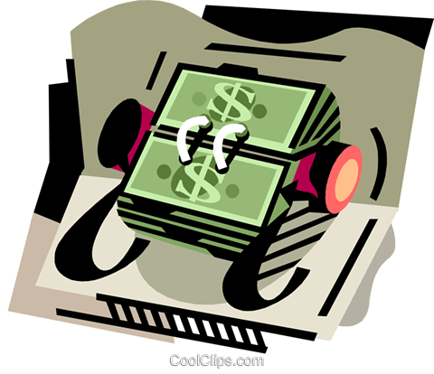 Money rolodex Royalty Free Vector Clip Art illustration busi2286