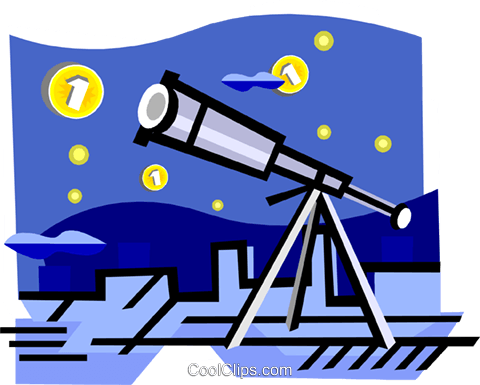 Telescope Royalty Free Vector Clip Art illustration busi2289