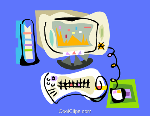 computer Royalty Free Vector Clip Art illustration busi2301