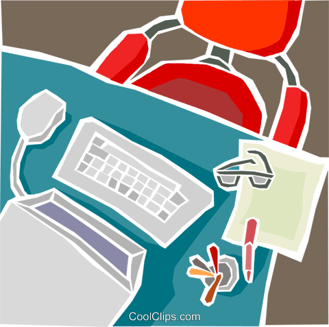 Office equipment Royalty Free Vector Clip Art illustration busi2317