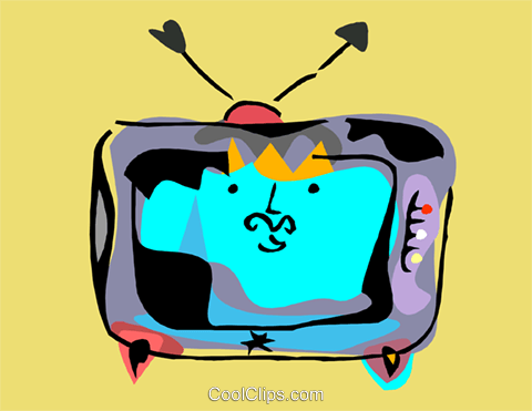 television Royalty Free Vector Clip Art illustration hous1470