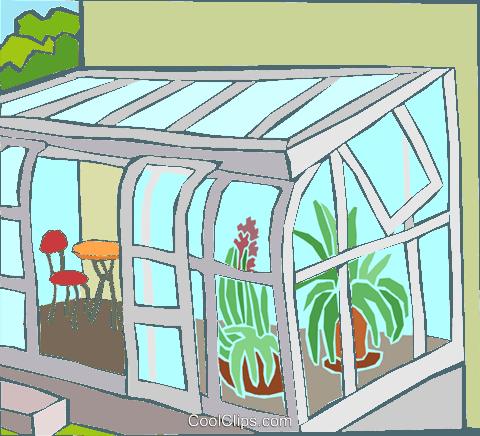 wintergarten mit pflanzen vektor clipart bild hous1480. Black Bedroom Furniture Sets. Home Design Ideas