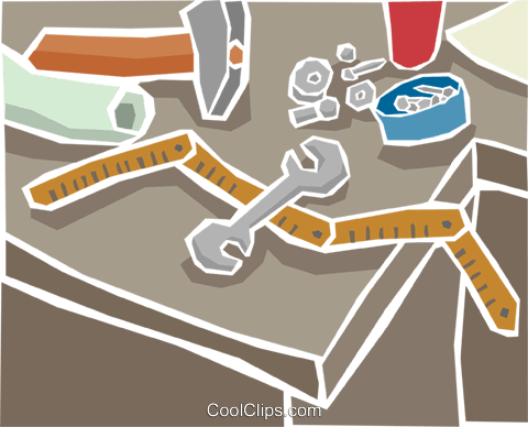 workbench tools Royalty Free Vector Clip Art illustration indu1040