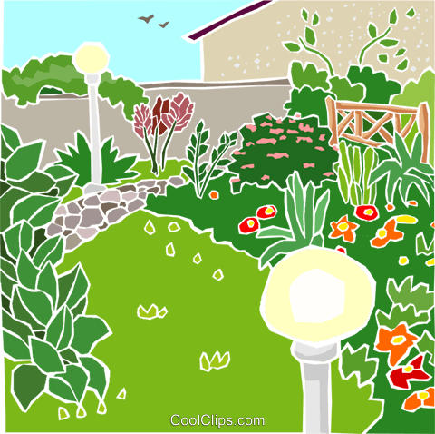 Summer garden Royalty Free Vector Clip Art illustration natu1004