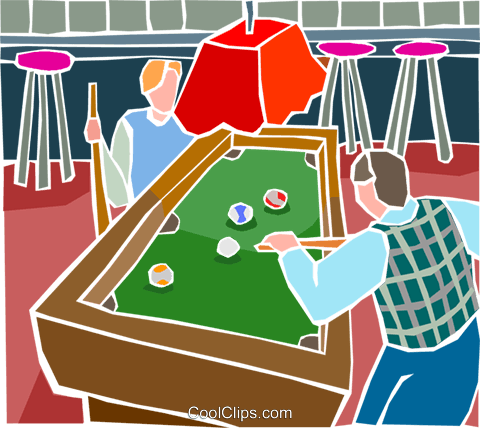 People playing pool Royalty Free Vector Clip Art illustration spor0505