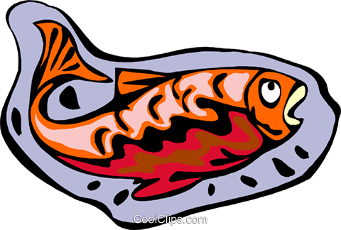 Decorative fish Royalty Free Vector Clip Art illustration anim2197