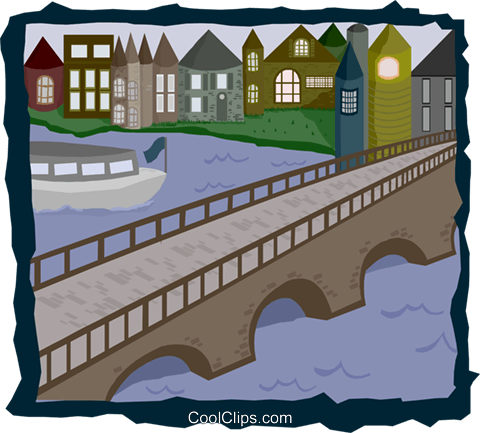 canal Royalty Free Vector Clip Art illustration arch0590