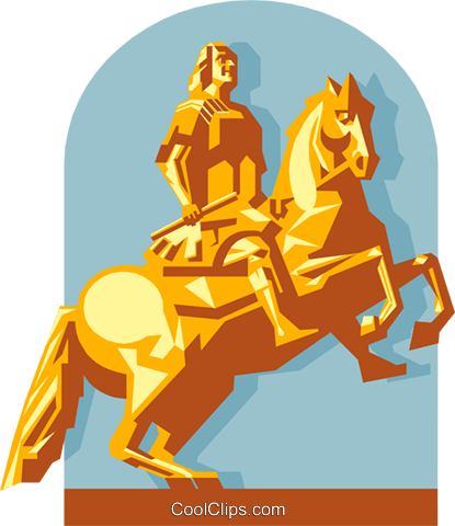 Statue in Germany Royalty Free Vector Clip Art illustration arch0598