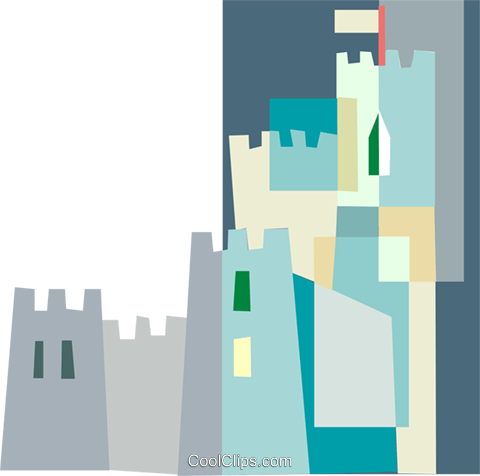 castle Royalty Free Vector Clip Art illustration arch0602