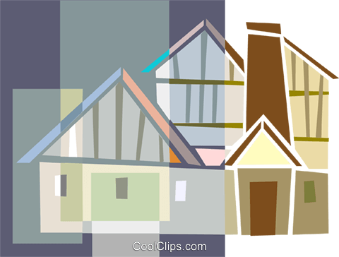 houses Royalty Free Vector Clip Art illustration arch0603