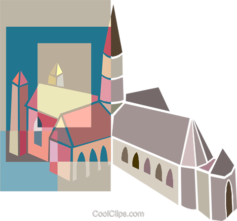 church Royalty Free Vector Clip Art illustration arch0605