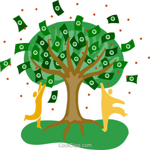 money tree symbol, finance Royalty Free Vector Clip Art illustration busi2326