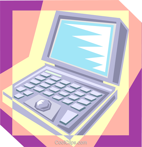 Laptop computer Royalty Free Vector Clip Art illustration busi2339