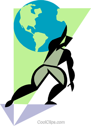 Figure with globe Royalty Free Vector Clip Art illustration busi2346