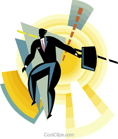 Figure with briefcase Royalty Free Vector Clip Art illustration busi2347
