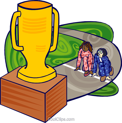 competition, trophy Royalty Free Vector Clip Art illustration busi2361