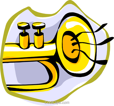 trumpet Royalty Free Vector Clip Art illustration ente0207
