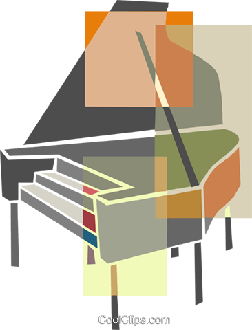 Piano Royalty Free Vector Clip Art illustration ente0212