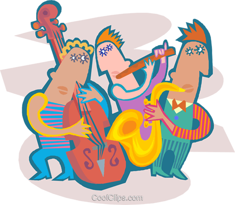 Music band Royalty Free Vector Clip Art illustration ente0217