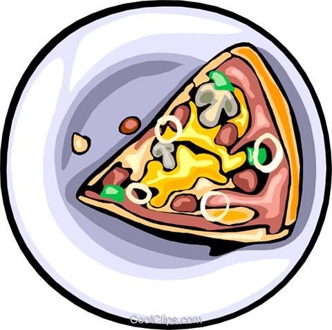Food and dining, fast foods, pizza Royalty Free Vector Clip Art illustration food1239