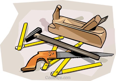 Tools Workman S Wood Working Tools Royalty Free Vector Clip Art